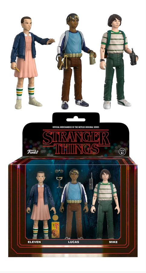 Stranger Things Funko 3 Pack Eleven Lucas Mike 3.75 Inch Figures