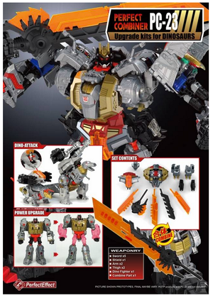 Perfect Effect PC-23 Perfect Combiner Potp Dinobots Volcanicus Add On Set