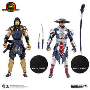 Mortal Kombat McFarlane Scorpion & Raiden 7 Inch Action Figure 2-Pack