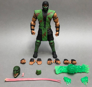 Mortal Kombat Storm Collectibles Reptile Blood Spatter 1:12 Scale Action Figure