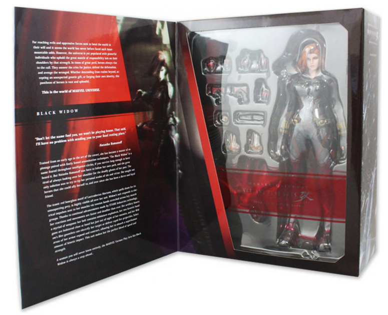 Marvel Square Enix Play Arts Kai Avengers Black Widow Action Figure