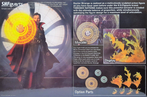 Marvel Bandai SH Figuarts Dr Strange & Burning Flame Set