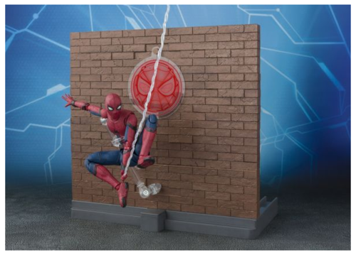 Marvel Bandai SH Figuarts Homecoming Spider-Man w/ Wall Pack Action Figure