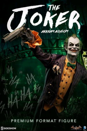 DC Sideshow Collectibles Batman Arkham Asylum Joker Premium Format 1:4 Scale Statue - Action Figure Warehouse Australia | Comic Collectables