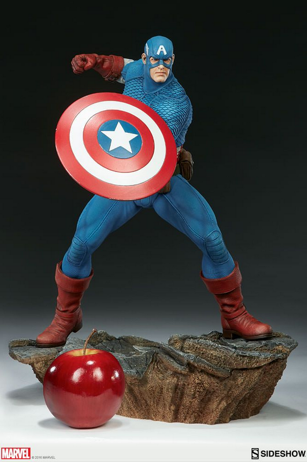 Marvel Sideshow Collectibles Avengers Assemble Captain America Statue