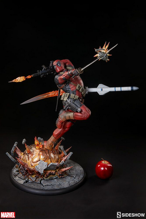 Marvel Sideshow Collectibles Deadpool Heat-Seeker Premium Format 1:4 Scale Statue