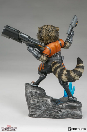 Marvel Sideshow Collectibles Guardians Of The Galaxy Rocket Premium Format 1:4 Scale Statue