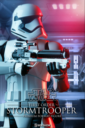 Star Wars Sideshow Collectibles First Order Stormtrooper Premium Format 1:4 Scale Statue