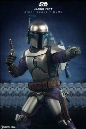 Star Wars Sideshow Collectibles Attack of the Clones Jango Fett 1:6 Scale Action Figure