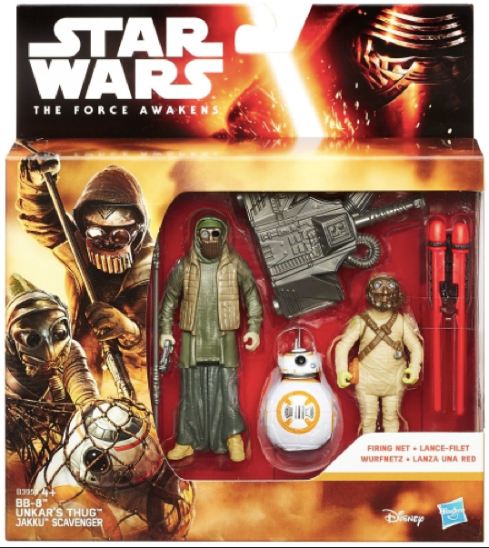 Star Wars The Force Awakens Unkars Thug & Jakku Scavenger & BB8 2-Pack 3.75 Inch Action Figure