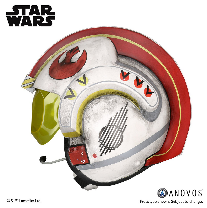 Star Wars Anovos Luke Skywalker Rebel Pilot Helmet Prop Replica