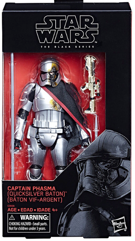 Star Wars Black Series Exclusive Captain Phasma Quicksilver Baton Action Figure