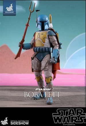 Star Wars Hot Toys Exclusive Boba Fett Animation Version 1:6 Scale Action Figure HOTMMS006