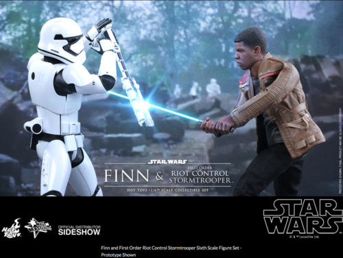 Star Wars Hot Toys Force Awakens Finn & Riot Control Stormtrooper Set 1:6 Scale Action Figure HOTMMS346