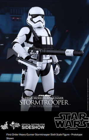 Star Wars Hot Toys First Order Stormtrooper Heavy Gunner 1:6 Scale Action Figure MMS318
