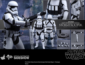 Star Wars Hot Toys First Order Stormtrooper Heavy Gunner 1:6 Scale Action Figure HOTMMS318
