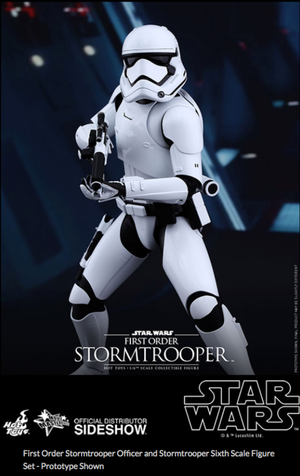 Star Wars Hot Toys First Order Stormtrooper Officer & Stormtrooper Set 1:6 Scale Action Figure HOTMMS335