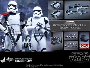Star Wars Hot Toys First Order Stormtrooper Officer & Stormtrooper Set 1:6 Scale Action Figure MMS335