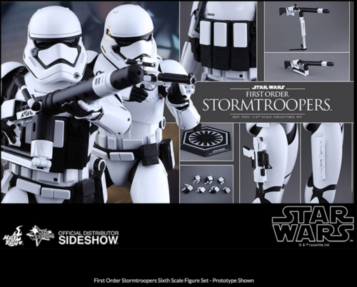 Star Wars Hot Toys First Order Stormtrooper & Heavy Gunner Set 1:6 Scale Action Figure HOTMMS319