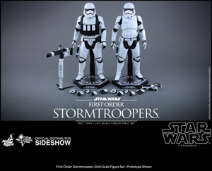Star Wars Hot Toys First Order Stormtrooper & Heavy Gunner Set 1:6 Scale Action Figure MMS319
