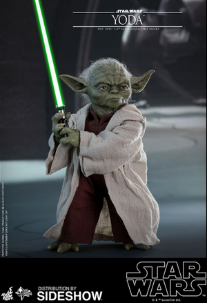 Star Wars Hot Toys Attack Of The Clones Yoda 1:6 Scale Action Figure HOTMMS495