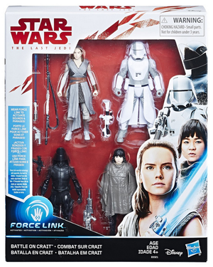 Star Wars The Last Jedi Battle On Crait 4 Pack 3.75 Inch