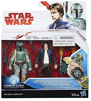 Star Wars The Last Jedi Han Solo And Boba Fett 2 Pack 3.75 Inch