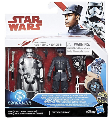 Star Wars The Last Jedi Finn First Order Disguise & Phasma 2 Pack 3.75 Inch