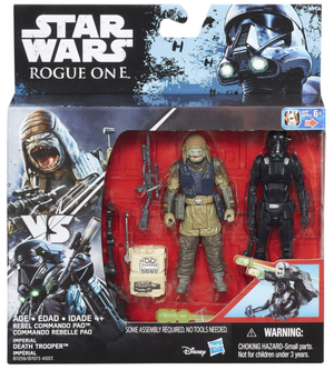 Star Wars Rogue One Rebel Commando Pao & Imperial Death Trooper 2 Pack 3.75 Inch
