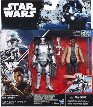 Star Wars Force Awakens Captain Phasma & Finn Jakku 2 Pack 3.75 Inch