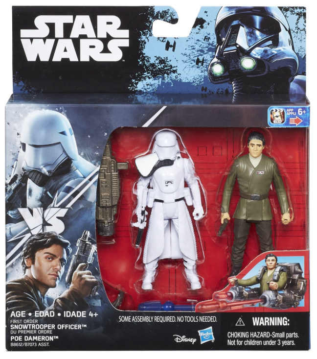Star Wars Rogue One First Order Snowtrooper Officer & Poe Dameron 2 Pack 3.75 Inch