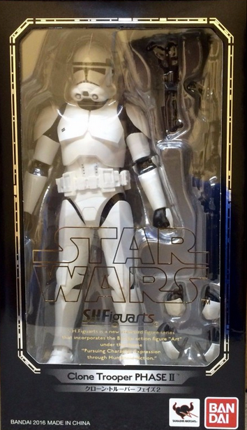Star Wars Bandai SH Figuarts Episode III Clone Trooper Phase 2 Action Figure