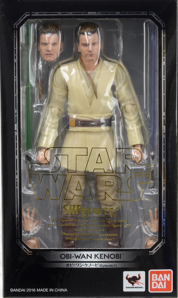 Star Wars Bandai SH Figuarts Episode I Obi-Wan Action Figure