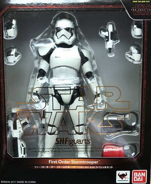 Star Wars Bandai SH Figuarts Last Jedi First Order Stormtrooper Special Set Action Figure