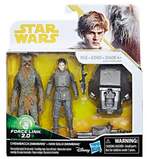 Star Wars Solo Mimban Chewbacca & Han Solo 3.75 Inch Action Figure 2-Pack