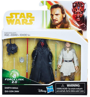 Star Wars Solo Darth Maul & Qui-Gon Jinn 2-Pack Movie 3.75 Inch