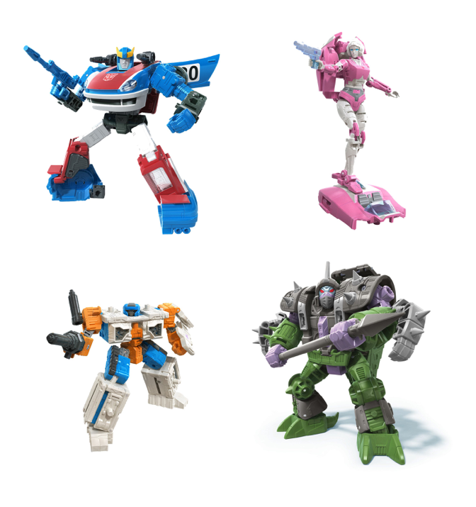 Transformers Earthrise War For Cybertron Wave 2 Deluxe Set of 4 Action Figures Pre-Order