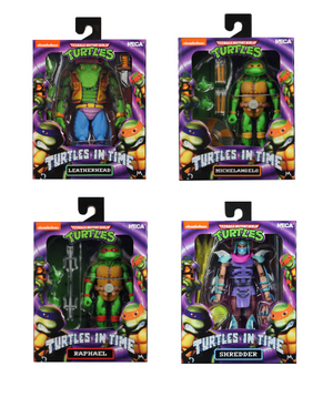 Teenage Mutant Ninja Turtles Neca Turtles In Time Series 2 set of 4 Action Figures