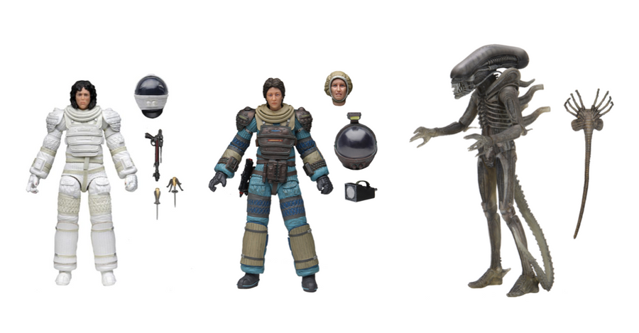 Alien Neca 40th Anniversary Series 4 Set of 3 Action Figures Pre-Order