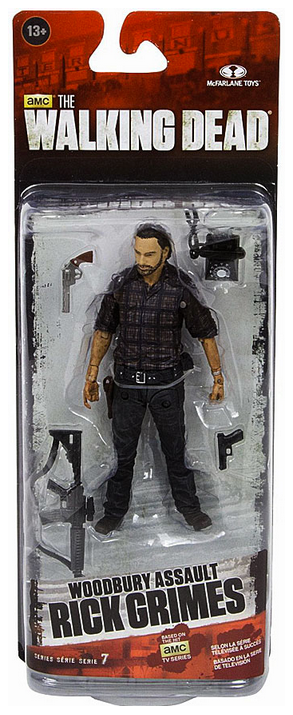 The Walking Dead Tv Series 7.5 Action Figure Rick Grimes Woodbury Assault