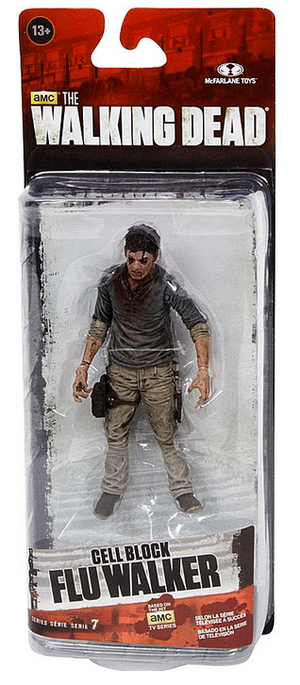 The Walking Dead Tv Series 7.5 Action Figure Flu Walker Cell Block