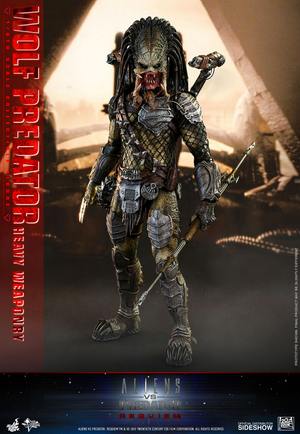 Alien v Predator Hot Toys Requiem Wolf Predator Heavy Weaponary 1:6 Scale Action Figure HOTMMS443 Pre-Order - Action Figure Warehouse Australia | Comic Collectables