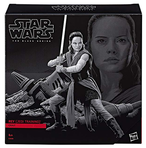Star Wars Black Series Exclusive Rey Jedi Training Crait Takara Tomy Box Set Action Figure