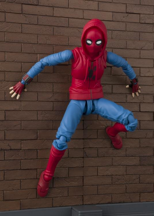 Marvel Bandai SH Figuarts Homecoming Spider-Man Home Made Suit w/ Wall Action Figure