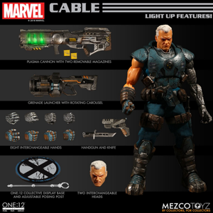 Marvel Mezco Cable One:12 Scale Action Figure