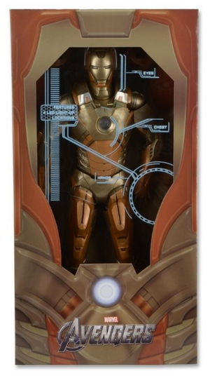 Marvel Neca Iron Man Gold Mark 21 1:4 Scale Action Figure