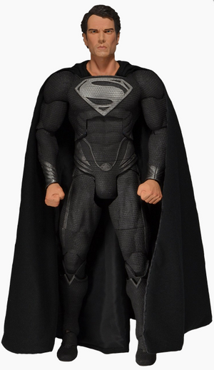 DC Neca Superman Man Of Steel Black Suit 1:4 Scale Action Figure - Action Figure Warehouse Australia | Comic Collectables