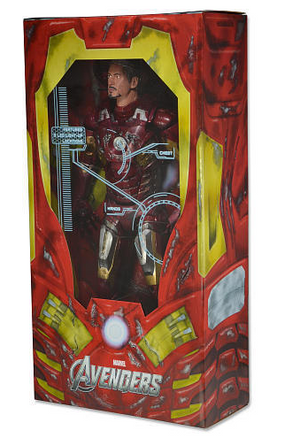 Marvel Neca Iron Man Battle Damaged 1:4 Scale Action Figure