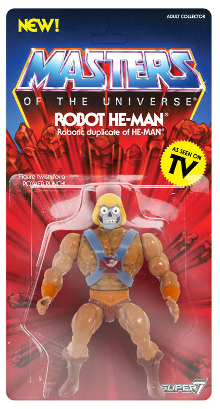 Masters Of The Universe Vintage Robot He-Man Action Figure