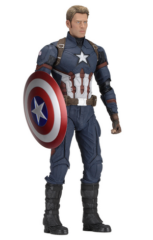 Marvel Neca Civil War Captain America 1:4 Scale Action Figure